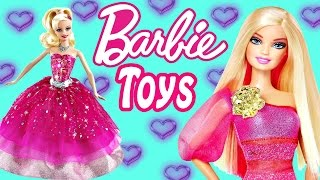 getlinkyoutube.com-BARBIE TOY EPISODES ★ Fashion Styles Play Doh Mermaids Frozen Doll Videos