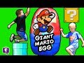 Worlds BIGGEST SUPER MARIO Surprise Egg! Amiibo + Kinder Chocolate HobbyKidsTV