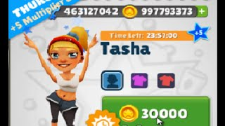 getlinkyoutube.com-Subway Surfers: Cairo New Hack Tasha +5 Multiplier Bonus