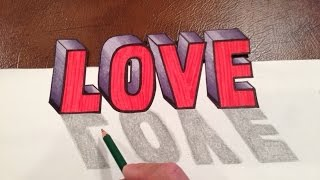 getlinkyoutube.com-How to DRAW LOVE in 3D Optical Illusion Trick Art