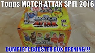 getlinkyoutube.com-█▬█ █ ▀█▀ 100 CLUBS! ⚽️ UNBOXING BOOSTER BOX ⚽️ Topps MATCH ATTAX SPFL 2015-16 Trading Card Game