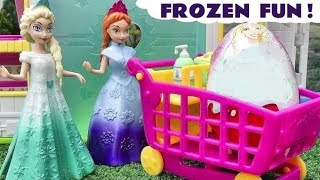 getlinkyoutube.com-Shopkins MLP Frozen Magiclip Play Doh Surprise Eggs Barbie Kinder Elsa Princess Disney Minnie Mouse