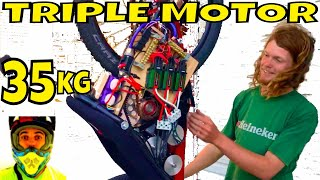42,000w 56hp Electric Bike Triple Motor (video#4) 35.2kg 77.6lbs total weight + thermal camera