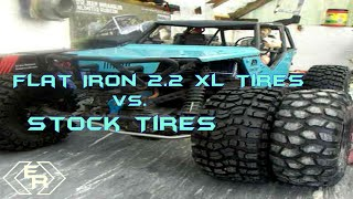 getlinkyoutube.com-Axial Wraith Stock Tires VS. 2 2 Flat iron tire Review