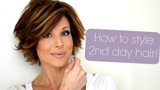getlinkyoutube.com-Styling Tips For Second & Third Day Hair