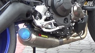 getlinkyoutube.com-Yamaha MT-09 Akrapovic Racing Line titanium full system exhaust