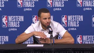 Stephen Curry Postgame Interview - Game 2   Warriors vs Rockets   2018 NBA West Finals