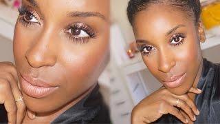 getlinkyoutube.com-QUICK Work/School Makeup Tutorial! CHEAP and EASY | Jackie Aina