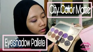 Tutorial Makeup with City Color Matte Eyeshadow Palette | Ima Robbi (Bahasa)