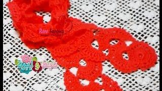 getlinkyoutube.com-كروشيه سكارف سهل وسريع بغرزه من غرز الحواف الزخرفيه \خيط وابره\Crocheted scarf quick and easy