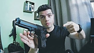 getlinkyoutube.com-Review Pistola Beretta M9 KJW GBB airsoft