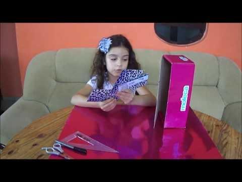 Maria Alice ensina como fazer uma geladeira da Barbie com uma caixa de sapato