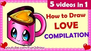 getlinkyoutube.com-How to Draw Easy, Cute, Love, Cartoons for Family & Friends