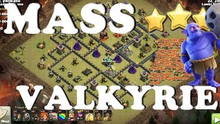 getlinkyoutube.com-TH9 MASS VALKYRIES + Bowlers - Easy 3 Star Attack Strategy | Clash of Clans