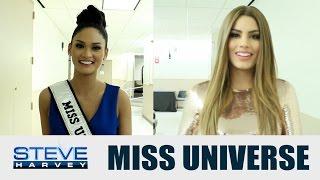 getlinkyoutube.com-Do Miss Universe and Miss Colombia forgive Steve? || STEVE HARVEY