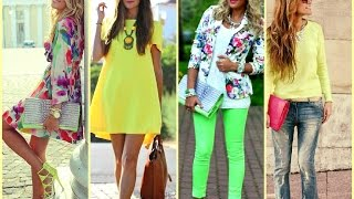 getlinkyoutube.com-Outfits con colores neon moda 2015