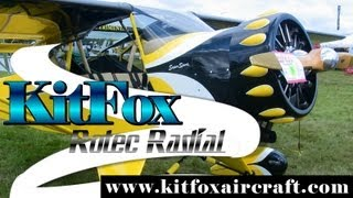 getlinkyoutube.com-Kitfox, KitFox Aircraft with Rotec Radial aircraft engine.