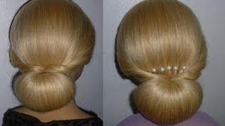 Frisuren mit Duttkissen:Dutt.Hochsteckfrisur.Hochzeitsfrisur.Donut Hair Bun Updo Hairstyle.Peinados