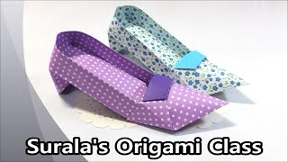 getlinkyoutube.com-Origami - High heels (shoes)