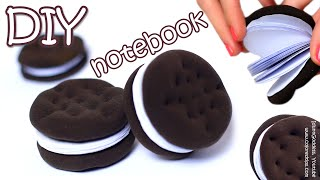 getlinkyoutube.com-How To Make Oreo Notebook - DIY Chocolate Sandwich Cookies Notebook Tutorial