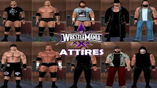 WWE NEW ERA PROJECT CAWS WITH ATTIRE OF WRESTLEMANIA XXX SVR 11 PS2