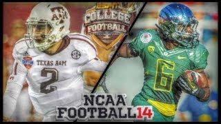 getlinkyoutube.com-NCAA Football 14 - Johnny Manziel Runs All Over Oregons Defense | AMAZING Back To Back Kick Returns