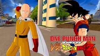 Saitama (One Punch Man) vs Goku | One Punch Man Meets Dragon Ball Z | DBZ Tenkaichi 3 (MOD)