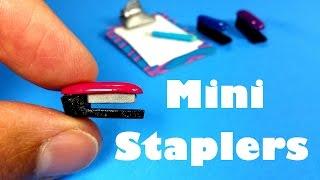 getlinkyoutube.com-DIY Miniature Doll Staplers - Dollhouse DIY