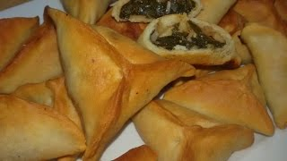 getlinkyoutube.com-الطريقة ألاصلية لعمل فطائر السبانخ اللبنانية المقرمشة  Lebanese Spinach Fatayer