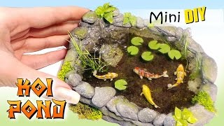 getlinkyoutube.com-Miniature Koi Pond Tutorial // DIY Dolls/Dollhouse
