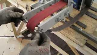 getlinkyoutube.com-Homemade 2x72 vertical / Belt Grinder - Bandschleifer / Horizontalschleifer Eigenbau