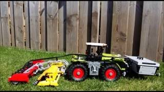 getlinkyoutube.com-Lego Claas Xerion 42054 with Attachment controlled by Sbrick