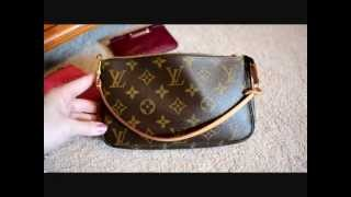 getlinkyoutube.com-What fits inside of a Louis Vuitton Pochette Accessory Bag ~ Viewer Request