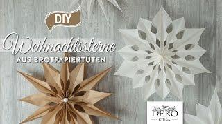 getlinkyoutube.com-DIY: große Weihnachtssterne aus Brotpapiertüten basteln [How to] Deko Kitchen