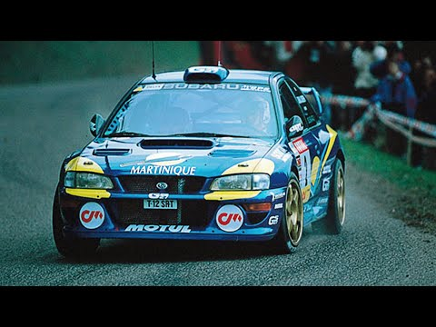 Subaru Impreza WRC99 tarmac action - with pure engine sounds
