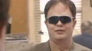 getlinkyoutube.com-Dwight Schrute Jim Halpert Gotta Wear Shades BEST OFFICE DELETED SCENE