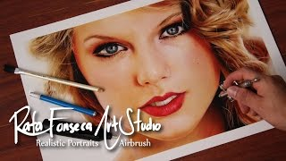 getlinkyoutube.com-Painting Airbrush Taylor Swift / Rafa Fonseca