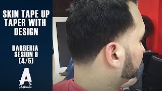 getlinkyoutube.com-Barberia Sesion 9 (skin Tape up/Taper with design) 4/5