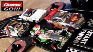 getlinkyoutube.com-Cars 2 Carrera Go! Slot Racing Track Silver Lightning McQueen Max Schnell Disney Racer Speeders