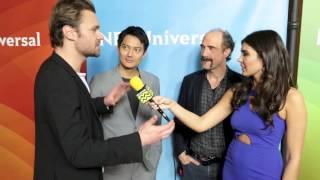 getlinkyoutube.com-Patrick Flueger, Elias Koteas & Archie Kao from Chicago PD @ NBC Red Carpet | AfterBuzz TV Interview
