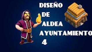 getlinkyoutube.com-Modelo  de aldea para ayuntamiento nivel 4 / clash of clans