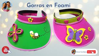 getlinkyoutube.com-Gorra, visera en foami para niñas y niños - foam hat for girls and boys