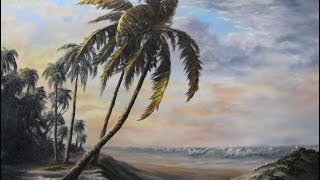 getlinkyoutube.com-Paint with Kevin Hill - Sunlit Palm