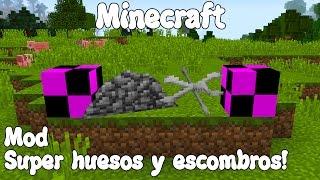 getlinkyoutube.com-Minecraft 1.10.2 MOD SUPER HUESOS Y ESCOMBROS! Debris Mod Español!