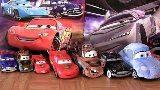 getlinkyoutube.com-18 Cars Toys Plush Diecast Sally Rescue Squad Chopper DINOCO Lightning McQueen Disney Blucollection