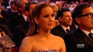 getlinkyoutube.com-Jennifer Lawrence Kiss At BAFTA 2013 (FullHD)
