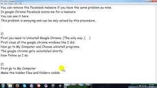 getlinkyoutube.com-Facebook Malware Fix