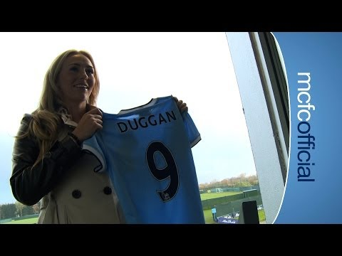 NEW SIGNING: Toni Duggan signs for the City Ladies