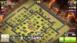getlinkyoutube.com-Mind Blown... 38 Giants! 3 Stars Mass Giants Attacks on maxed TH10