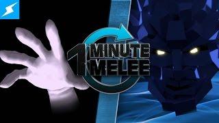 One Minute Melee - Master Hand Vs Polygon Man (Smash Bros vs PlayStation All-Stars)